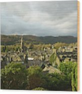 Rooftops Of Ambleside In Early Morning In The Lake District Wood Print