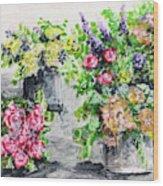 Rose Bundles Wood Print