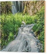 Roughlock Waterfalls In Lead, South Wood Print
