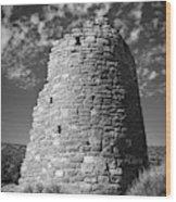Round Tower Wood Print
