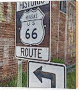 Route 66 - Kansas #1 Wood Print