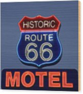 Route 66 Motel Wood Print