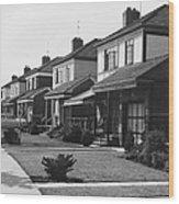 Row Of Houses Wood Print
