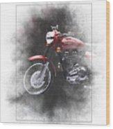 Royal Enfield Bullet Electra Efi Painting Wood Print