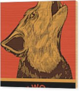 Rubino Wolf Dog Love One World Wood Print