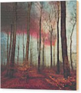 Ruby Red Evening Wood Print