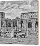 Ruins Of A Cathedral, Elgin Cathedral Wood Print