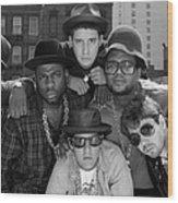 Run-dmc & Beastie Boys Wood Print