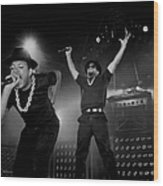 Run Dmc Live In Concert Wood Print