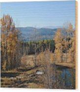Rural Montana Wood Print