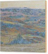 Russet Ridge Reverie Wood Print