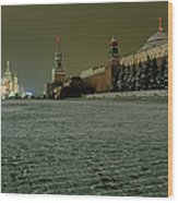 Russia, Moscow, Red Square And Kremlin Wood Print