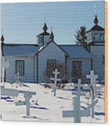 Russian Orthodox Church Ninilchik Alaska Wood Print