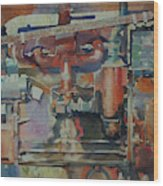 Rusty Engine  Wood Print