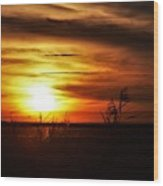 Rusty Sunset Wood Print