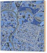 Sacramento Map Retro 5 Wood Print