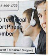 Sage Customer Support Number Usa  Wood Print