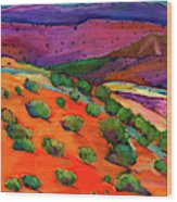 Sage Slopes Wood Print