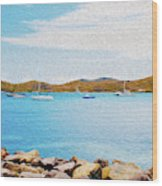 Sailboat Adventure in San Juan Puerto Rico Wood Print