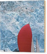 Sailboat Prince William Sound Alaska Wood Print
