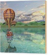 Sailing Away Daydream Steampunk Custom Wood Print