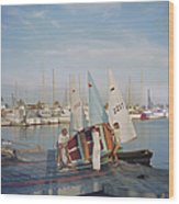 Sailing Dinghy Wood Print