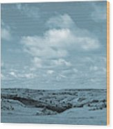Sailing Over Slope County Wood Print