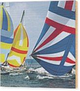 Sailing Race Wood Print