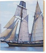 Sailing With Pride Wood Print