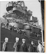 Sailors, Anticipating Shore Leave, Line Wood Print