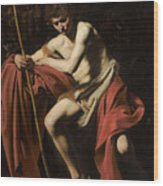 Saint John The Baptist In The Wilderness             Wood Print