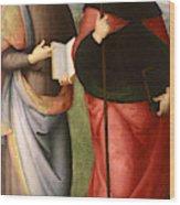 Saint John The Evangelist And Saint Augustine Wood Print