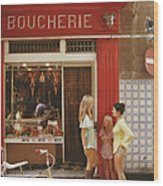 Saint-tropez Boucherie Wood Print