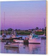 Sakonnet Point Boats Wood Print