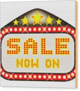 Sale Theatre Marquee Wood Print