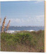 Salty Island Breeze Over Breach Inlet Wood Print