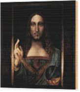 Salvator Mundi After Leonardo Da Vinci Wood Print