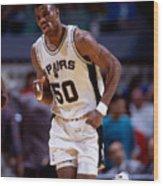 San Antonio Spurs David Robinson Wood Print
