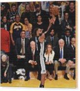 San Antonio Spurs V Los Angeles Lakers Wood Print