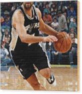 San Antonio Spurs V New Orleans Hornets Wood Print