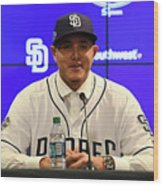 San Diego Padres Introduce Manny Machado Wood Print