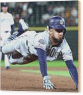 San Diego Padres V Seattle Mariners Wood Print