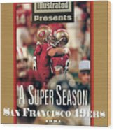 San Francisco 49ers Jerry Rice, Super Bowl Xxix Sports Illustrated Cover Wood Print