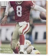 San Francisco 49ers Qb Steve Young, 1993 Nfc Divisional Sports Illustrated Cover Wood Print