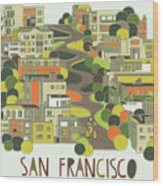 San Francisco, California Wood Print