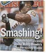 San Francisco Giants Barry Bonds... Sports Illustrated Cover Wood Print