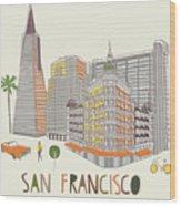 San Francisco Print Design Wood Print