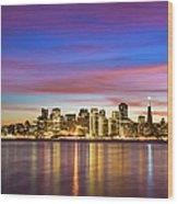 San Francisco Sunset Wood Print