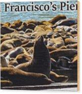 San Francisco's Pier 39 Walruses 2 Wood Print