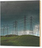 San Joaquin Valley Power Grid Wood Print